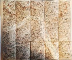Meran -  Karte der Umgebung von Meran.