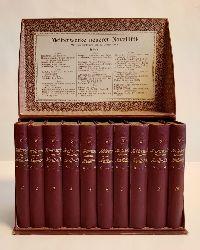 Meisterwerke neuerer Novellistik. 10 Bände. Komplett. Mit einer Einleitung von W. Lennemann. In Orig.-Schmuckkasette.