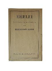 Bahr, Hermann  Ehelei. Lustspiel in drei Akten.