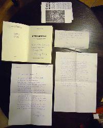 Niederösterreichische Mundart - ALBERER, Rudolf  AUTOGRAPHEN Konvolut: 2 Orig.-Briefe + 1 Weihnachtskarte + 1 Widmung mit Signatur + Buch + einige Beilagen.