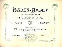 Baden-Baden -  BADEN-BADEN ALBUM. Stadt- und Landschaftsbilder. 42 Original-Aufnahmen nach der Natur. (= Kölblin