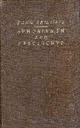 Friedell, Egon  Aphorismen zur Geschichte. Aus dem Nachlaß. Herausgegeben von Walther Schneider.