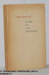 Graf, Oskar Maria:  Unruhe um einen Friedfertigen. Aurora - Bücherei.