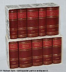 Boccaccio, Giovanni di:  Das Dekameron des Giovanni Boccaccio. Hier: 10 Miniaturbände in zwei Schubern (kpl.).