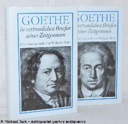 Bode, Wilhelm (Zus.stellung):  Goethe in vertraulichen Briefen seiner Zeitgenossen. Zusammengestellt von Wilhelm Bode. Hier: 2 Bände. 1749-1793, 1794-1816.