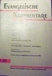 Autorenkollektiv: Evangelische Kommentare - Nr. 12 / 94, Monatsschrift zum Zeitgeschehen in Kirche und Gesellschaft, gutes Exemplar,