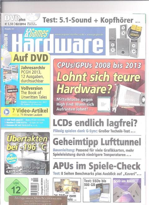 PC Games Hardware mit DVD Ausgabe 02/2014