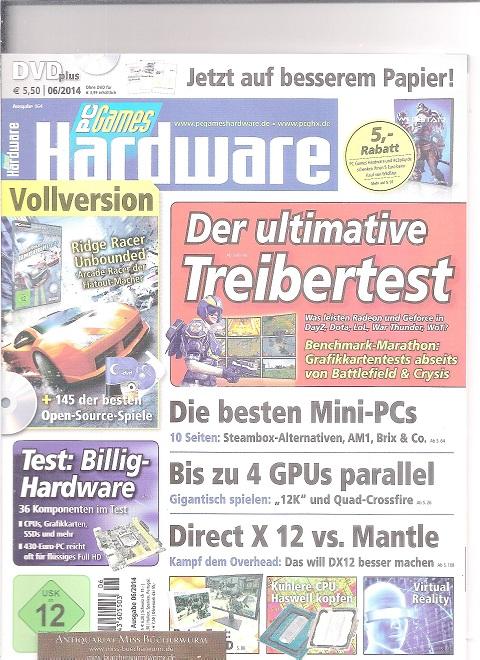 PC Games Hardware mit DVD Ausgabe 06/2014