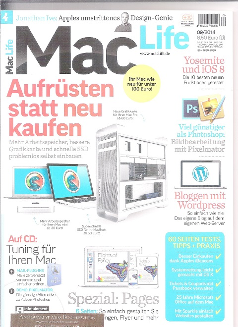 MacLife mit DVD Ausgabe 09/2014