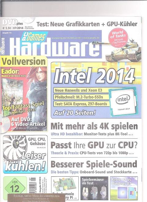 PC Games Hardware mit DVD Ausgabe 07/2014