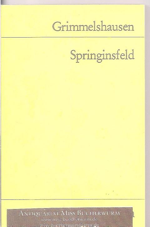 Grimmelshausen  Springinsfeld - Der seltzame Springinsfeld Reclam Universal Bibliothek Nr. 9814/3