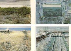 LOUIS - Louis G.N. Busman  4 Kunst - Postkarten : Landschaft / Arbeitsfeld mit Fluchtpunkt / Recht Friedlich / Chinalandschaft