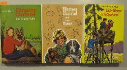 Ecke, Erich; Ecke-Siebold, E. & Siebold, Werner  3 Karo-Bücher: Försters Christel und ihre Tiere. Försters Christel am Kranichsee. & Beim Förster in Falkenhorst.