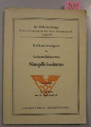 Rosebrock, Dr. Theo (neu bearb.)  Erläuterungen zu Grimmelshausens Simplicissimus.