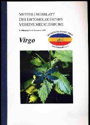 Virgo. Mitteilungsblatt des Entomologischen Vereins Mecklenburg. Jg. 1, Nr. 1