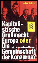 Galtung, Johan:  Kapitalistische Grossmacht Europa oder die Gemeinschaft der Konzerne? rororo 1651. rororo aktuell.