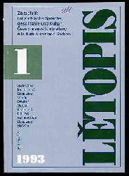 Letopis. Zeitschrift für sorbische Sprache, Geschichte und Kultur. Casopis za rec, stawizny a kulturu Luziskich Serbow. 1. 1993.