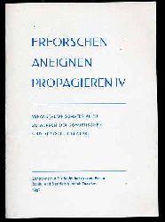 Erforschen Aneignen Propagieren 4. Veranstaltungsmaterialien zu Werken der sowjetischen und der DDR-Literatur.