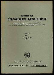 Berichte der Geologischen Gesellschaft in der Deutsche Demokratische Republik für das Gesamtgebiet der Geologischen Wissenschaften Bd. 3 (nur) H. 1.