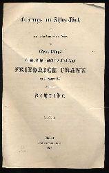 Einleitungs- und Schluss-Worte der zur akademischen Feier des Geburtstags Seiner Königl. Hoheit des Großherzogs Friedrich Franz am 28. Februar 1857 gehaltenen Festrede.