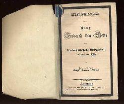 Bang, Oluf Lundt:  Mindetale over Kong Frederik den Sjette ved Universitets Sörgefest den 28. Januar 1840.
