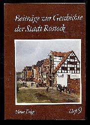Beiträge zur Geschichte der Stadt Rostock. Neue Folge. Heft 9.