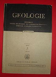 Geologie. Zeitschrift für das Gesamtgebiet der Geologischen Wissenschaften. Jg. 9 (nur) H. 5.
