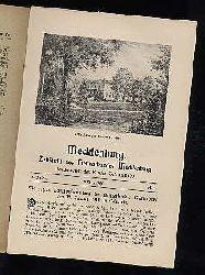 Mecklenburg. Zeitschrift des Heimatbundes Mecklenburg. 11. Jg. (nur) Heft 1.