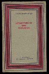 Klinger, Friedrich Maximilian:  Betrachtungen und Gedanken. Ausgewählt und eingeleitet von Gerhard F. Hering. Die kleine Reihe 2.