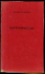 Priesemann, Gerhard:  Botensprüche.