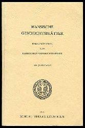 Hansische Geschichtsblätter. 109. Jahrgang. Herausgegeben vom Hansischen Geschichtsverein.