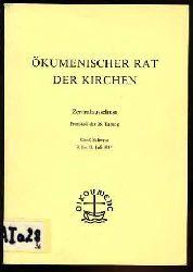Ökumenischer Rat der Kirchen. Zentralausschuss. Protokoll der 36. Tagung. Genf, Schweiz 9. bis 18. August 1984.