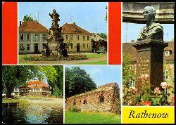 Rathenow. Denkmal des Kurfürsten, Duncker-Denkmal, Waldschwimmbad, Stadtmauer.