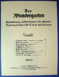 Der Wundergarten. Sammlung mittelschwerer berühmter Vortragsstücke für Violine und Klavier. Violine.