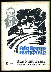 Land und Leute. Kreis Ludwigslust 1960 (nur) Heft 2. Fritz Reuter Festspiele.