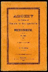 Archiv des Vereins der Freunde der Naturgeschichte in Mecklenburg. 40. Jahr. II. Abteilung.