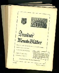 Dresdner Monats-Blätter. Zeitschrift der Dresdner Heimatfreunde in Westdeutschland 15. Jahrgang (nur) Folge 1, 3-5, 8-10, 12.