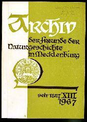 Archiv des Vereins der Freunde der Naturgeschichte in Mecklenburg. Band 13. 1967.