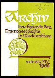 Archiv des Vereins der Freunde der Naturgeschichte in Mecklenburg. Band 14. 1968.