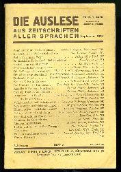 Die Auslese aus Zeitschriften aller Sprachen. Internationale Zeitschriftenschau. September 1934