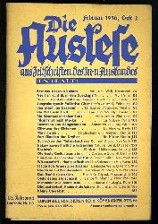 Die Auslese aus Zeitschriften aller Sprachen. Internationale Zeitschriftenschau. 1936, Heft 2. Mit Beilage: Die Aussprache, Februar 1936.