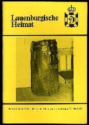 Lauenburgische Heimat. Zeitschrift des Heimatbund und Geschichtsvereins Herzogtum Lauenburg. Neue Folge. Heft 119.