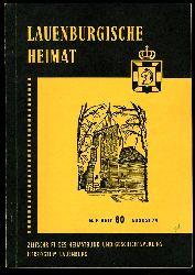Lauenburgische Heimat. Zeitschrift des Heimatbund und Geschichtsvereins Herzogtum Lauenburg. Neue Folge. Heft 80.