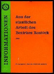 Informationen. Aus der staatlichen Arbeit des Bezirkes Rostock 1988.