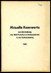 Aktuelle Kennwerte zur Anwendung des DDR-Futterwertungssystems in der Futterplanung 1987.
