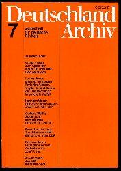 Deutschland Archiv. Zeitschrift für Fragen der DDR und der Deutschlandpolitik. 23. Jahrgang 1990 (nur) Heft 7.