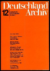 Deutschland Archiv. Zeitschrift für Fragen der DDR und der Deutschlandpolitik. 23. Jahrgang 1990 (nur) Heft 12.