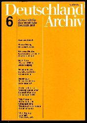 Deutschland Archiv. Zeitschrift für Fragen der DDR und der Deutschlandpolitik. 24. Jahrgang 1991 (nur) Heft 6.