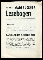 Gadebuscher Lesebogen Nr. 24, 1978.