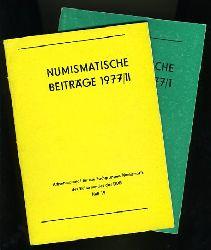 Numismatische Beiträge 1977, Heft 1 und 2.  Arbeitsmaterial für die Fachgruppen Numismatik des Kulturbundes der DDR